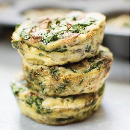 Egg Muffins (Mushroom and Spinach)